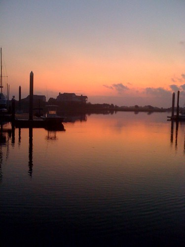 water marina sunrise reflections boats dawn nc