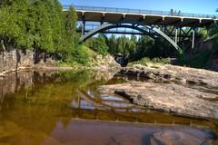 MN Gooseberry Falls Bridge From Top of Falls