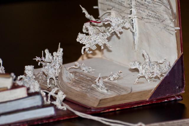 Mysterious paper sculptures