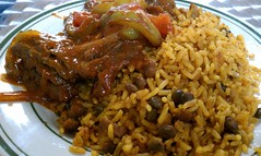 curry, rice, spanish rice, arroz con pollo, food, rice and curry, pilaf, dish, cuisine,
