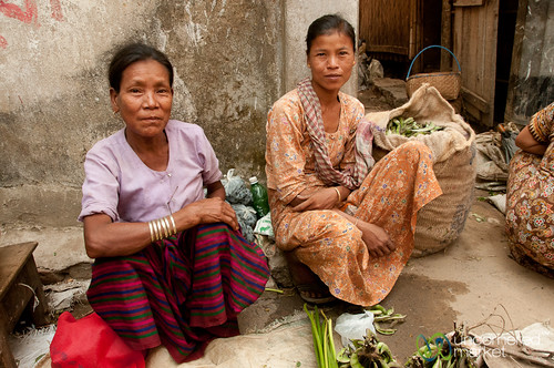 Mother and Daughter Vendors at Market - Bandarban, Bangladesh