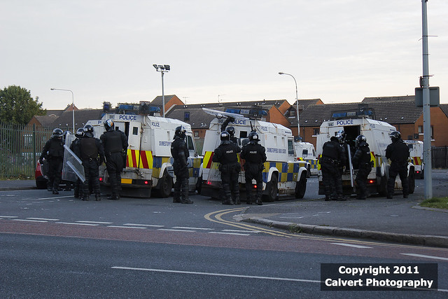 PSNI / Land Rovers / Belfast Riots, July 2011