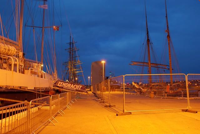 Tall ships at Kirkwall harbour