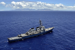 In this file photo, the guided-missile destroyer USS Russell (DDG 59) transits off the coast of Oahu, Hawaii, July 14. (U.S. Navy photo by Mass Communication Specialist 2nd Class Daniel Barker)