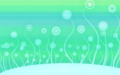 Free Aqua Green Swirly Flowers Wallpaper from BackgroundsEtc