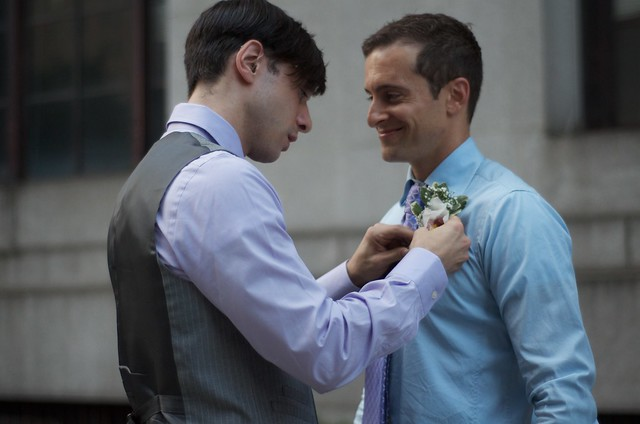 A couple getting married in New York City in 2011