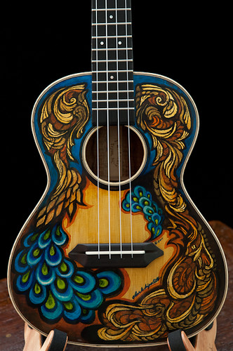 Hand Painted Guitars, Ukuleles, Lichty Guitars-2 by cwds