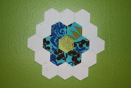 English Paper Pieced hexagon