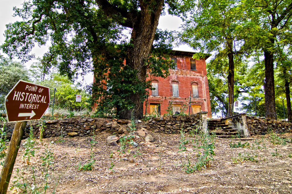 california railroad house tree brick abandoned window stone canon hotel photo cool oak stage ghost steps - Garden Valley Ca