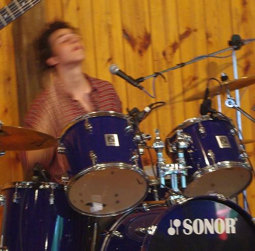 Gabe drumming