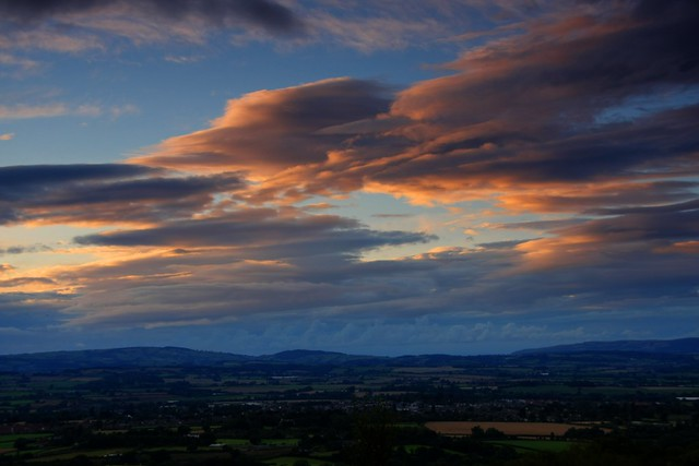 View at dusk over Wellington, Somerset, by IDS.Photos. Pic used under Creative Commons licence, click for link.