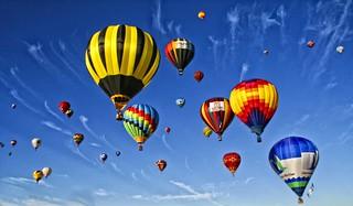 Hot Air Balloons Fill The Sky