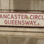 Former West Midlands Fire Service Headquarters building - Lancaster Circus Queensway - road sign