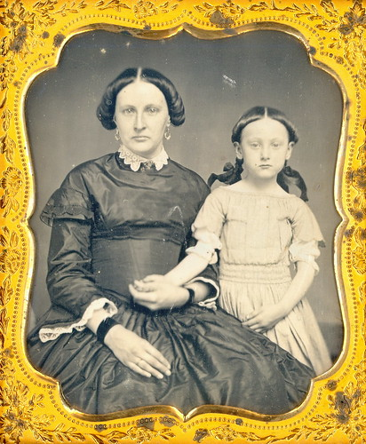 Mom and Daughter Daguerreotype by Mirror Image Gallery