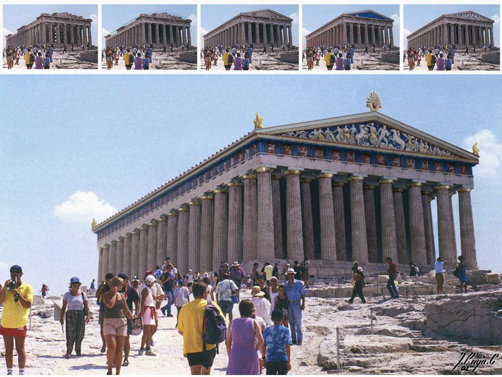 restored parthenon - a photo on Flickriver
