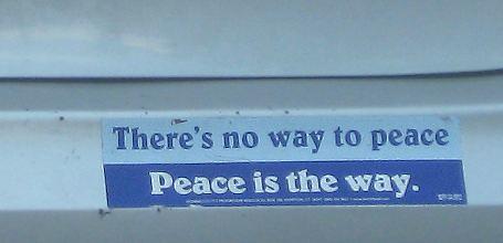 Bumper Sticker: Peace is the way