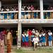 Dan with Female Students at School - Hatiandha, Bangladesh