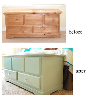 gray painted alder blanket chest