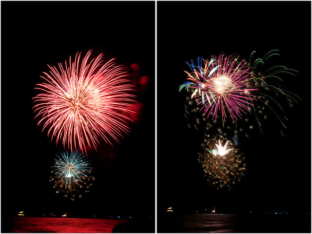 July 4th fireworks diptych 6