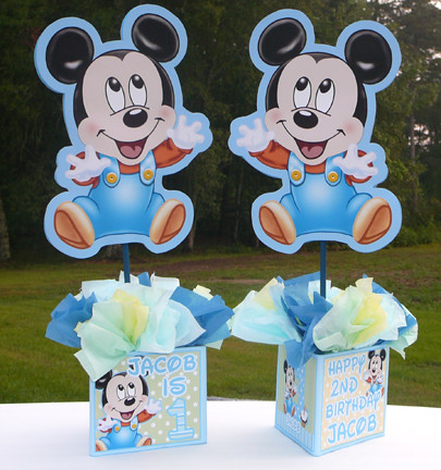 -baby-mickey-mouse-decorations-handmade-supplies-decor-first-boy-1st ...