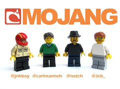 (Partial) Team Mojang in Lego