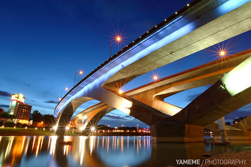 longexposure bridge sunset night eos nightshot taiwan taipei 台灣 台北 夜景 碧潭 日落 bitan 黑卡 長曝 1635mmlii 5dmarkii 新北市