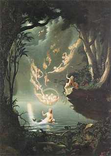 "Douglas Harvey (British fl. 1853-72) - ""Oberon and the mermaid"""