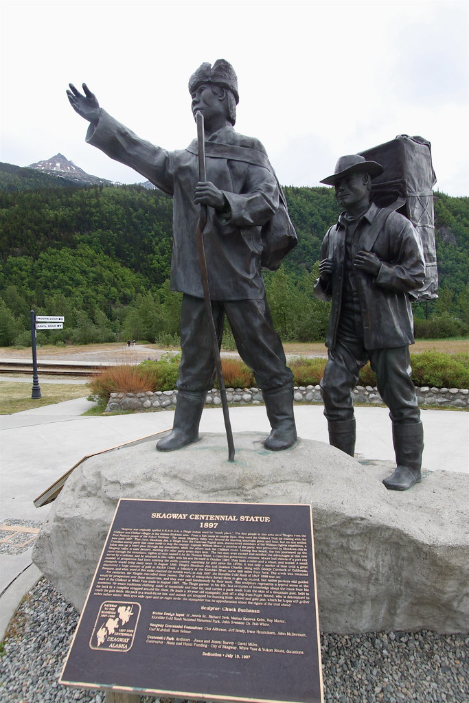 Plaque commemorating Klondike stampeders