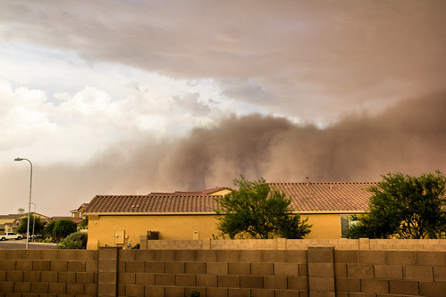 arizona home phoenix weather clouds backyard quality air az airquality duststorm haboob pm10 laveen