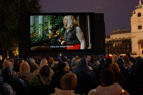 Ceija Stojka bei Kino unter Sternen