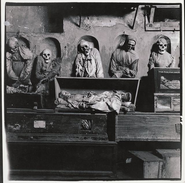 Palermo Catacombs, 1963, by Peter Hujar