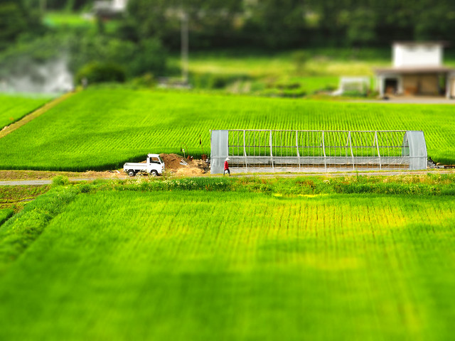 Photo:Country view at Chino, Japan tilt-shift 茅野田園風景 ティルトシフト By:Urawa Zero