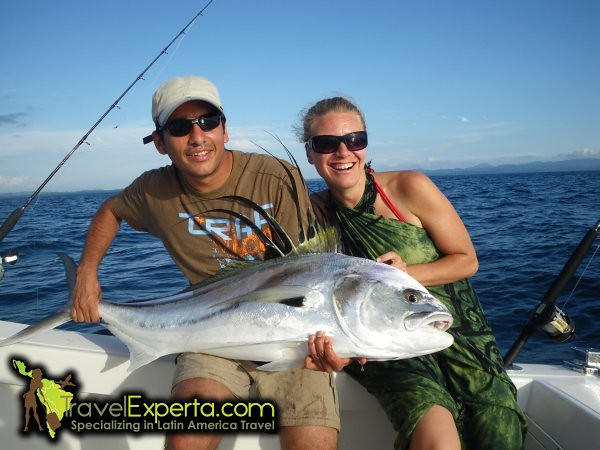 Sport Fishing and catching a rooster fish
