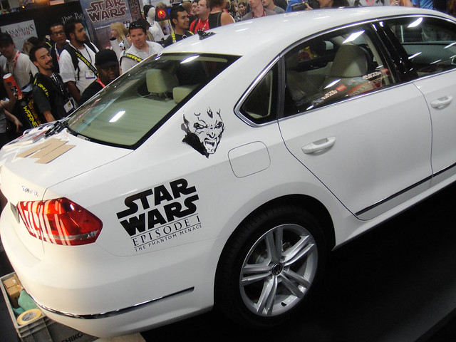 San Diego Comic-Con 2011 - Star Wars Volkswagon Passat art car at the beginning (Lucasfilm booth)