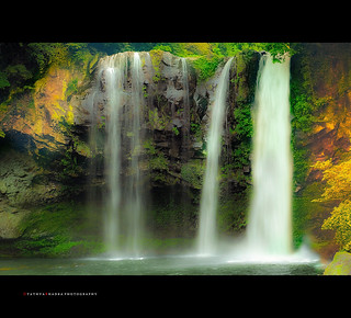 Cheonjiyeon Falls, Jeju-do, Korea (re-worked)