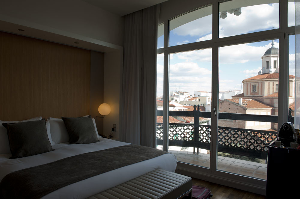 Room with a view at Hotel Me, Madrid, Spain, Europe