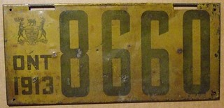 ONTARIO 1913 LICENSE PLATE