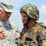 Lt. Gen. Hertling Observes Training at Rapid Trident 2011