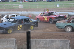 rallying(0.0), family car(0.0), stock car racing(0.0), rallycross(0.0), race car(1.0), auto racing(1.0), automobile(1.0), racing(1.0), vehicle(1.0), sports(1.0), race(1.0), demolition derby(1.0), banger racing(1.0), dirt track racing(1.0), motorsport(1.0), race track(1.0),
