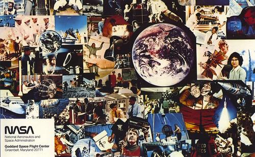 Vintage NASA Goddard postcard