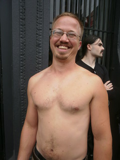 FOLSOM STREET FAIR 2011 - GREAT SMILE & GREAT CHEST (safe photo)