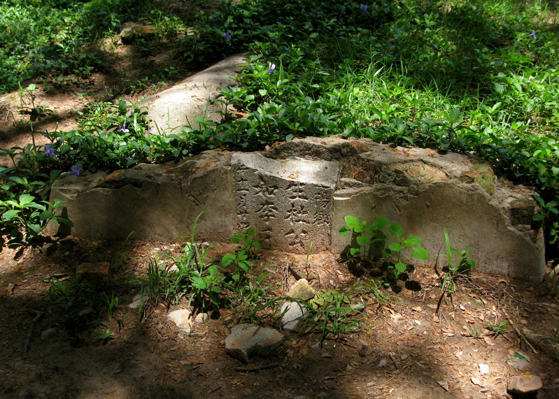 Damaged Chinese Gravestone at Choeung Ek.