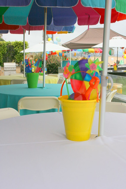 Beach Bucket Centerpiece : Beach party centerpieces flickr photo sharing