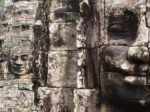 The carved faces of The Bayon