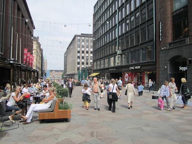 Calle peatonal de Helsinki