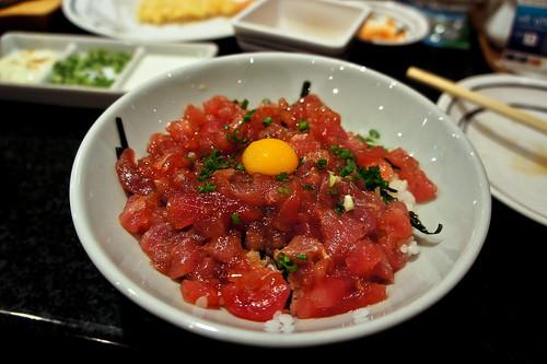 Japanese's Tuna Fish with Rice ข้าวหน้าปลาโทโร่สับ