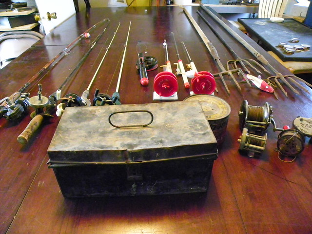 grizzly garage sale antique fishing equipment finds