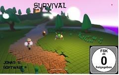 Werbekarte für das Spiel Survival