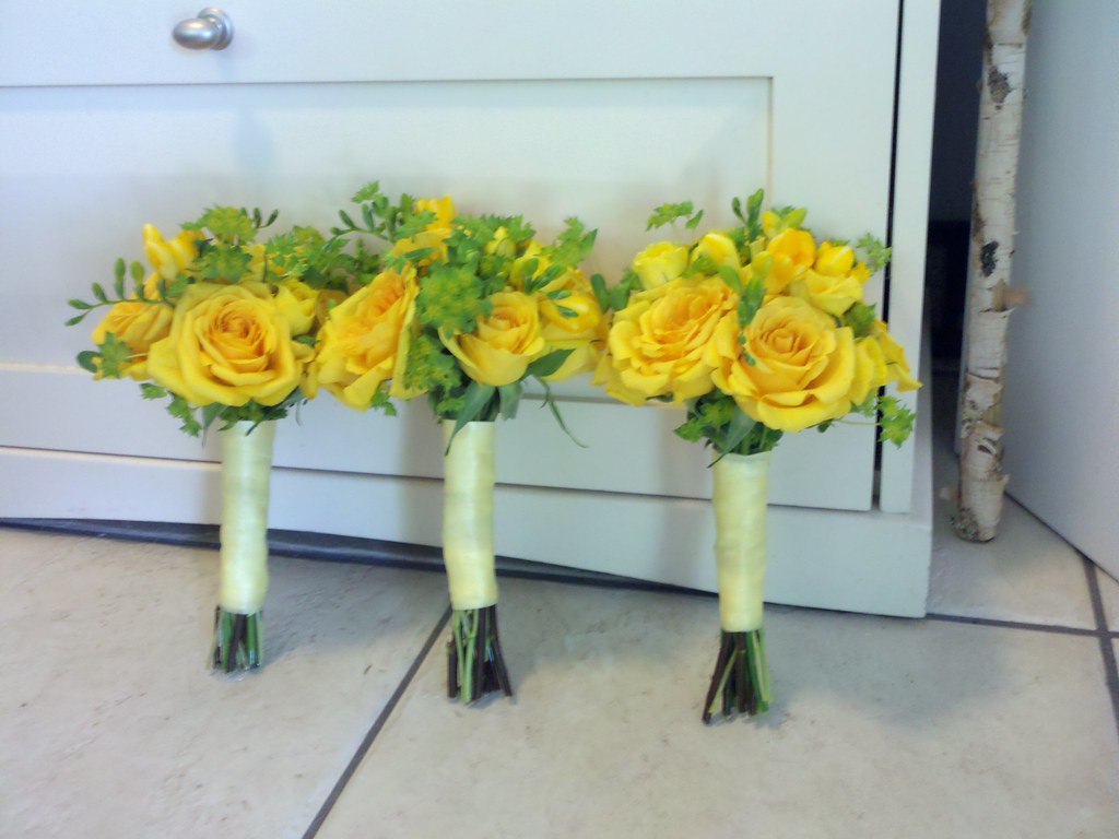 Yellow Rose wedding bouquets - a photo on Flickriver