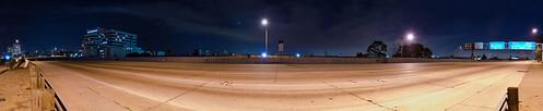 Empty 405 freeway
